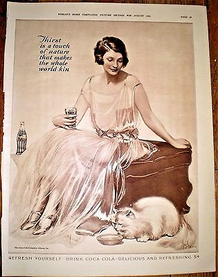 Large size 1924 Print Ad for COCA COLA ~ COKE ~ NEYSA McMEIN ARTWORK