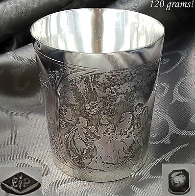 PUIFORCAT Rare French Antique Sterling Silver Timbale Cup Beaker Wine Mint Julep