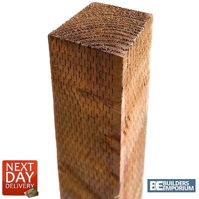 "Timber TREATED Fence Posts 3"" x 3"" x 6ft (1.8m ) Long Premium Quality"