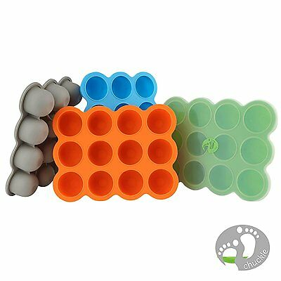 Silicone Baby Food Weaning Storage Pots Pack 12x Mini/Small Freezer Containers