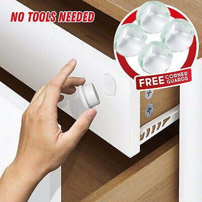 Invisible Safety Magnetic Lock Baby Pet Proof Cupboard Drawers Door Child Safe