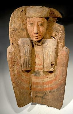 Authentic Vetted Ancient Egyptian Sarcophagus Bust Artifact from N.Y. Collection