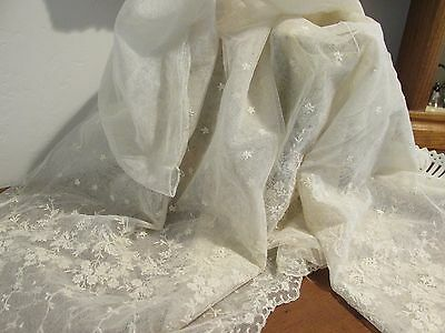 Antique French Alencon Lace Trim / Edging Perfect For Collector, Wedding Dress