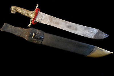 Antique 1800s German-Made Lion Head Spanish Artillery Short Sword/Old Collection