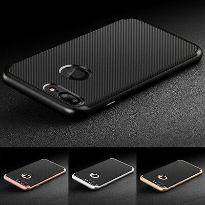 Luxury Carbon Fibre Soft TPU Silicone Dual Neo Case Cover for iPhone 6 7 Plus