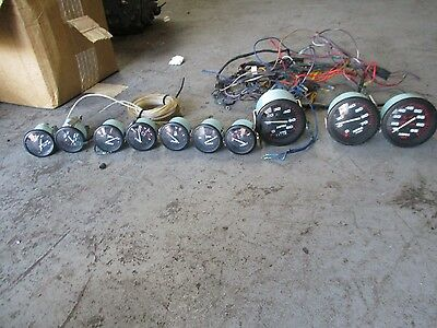 Mercury outboard dual engine gauge set