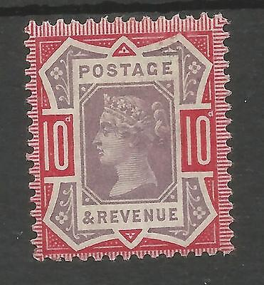 SG210 THE 1890 QV JUBILEE 10d DULL PURPLE AND CARMINE FRESH MOUNTED MINT C.£60