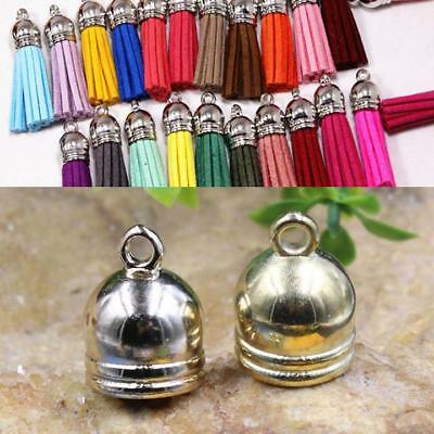 Jewelry Brass End Cap Beads 50pcs Caps Findings Accessories Bell Making DIY