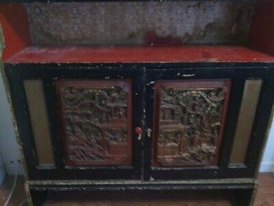 Antique Chinese Cabinet with ornate carvings (Marked Down)