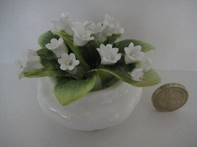 Rare Royal Albert Flowers Of The Month May Cluster Petal Pot  Lily Of The Valley