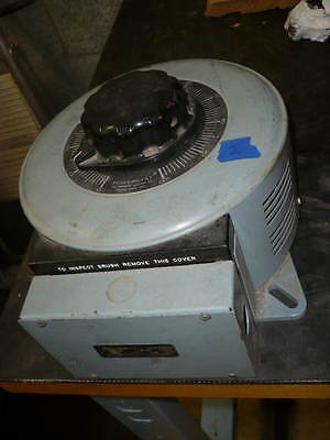 Powerstat variable transformer, variac, 120/240v in, 0-280v out, 15 amps