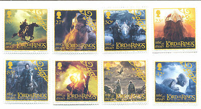 Isle of Man - Lord of the Rings set of 8 mnh
