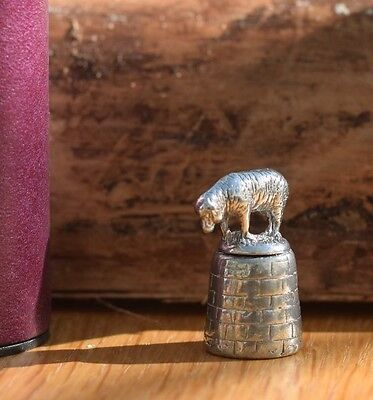 Sheep Pewter Thimble  T23
