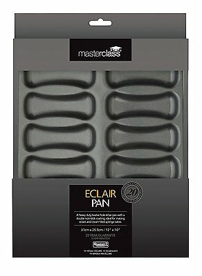 Master Class - Non-Stick 12-Hole ECLAIR BAKING TRAY - 31x25.5 cm - New