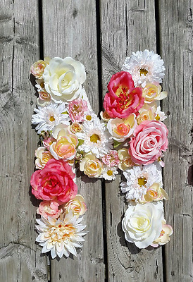 custom flower letters great for nursery or party decor