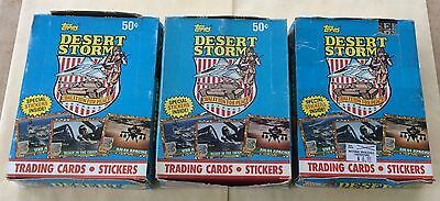 1991 Topps Desert Storm Trading Cards Lot Of 3 1st Series Wax Boxes