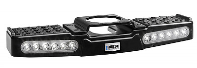 """Lighted LED Trailer Hitch Step Towing TruckStep for 2"""" Receiver Reese Towpower"""