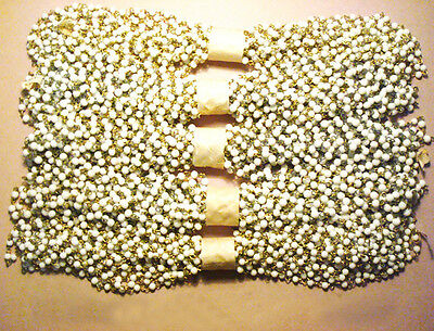 1m Vintage Old Stock White Glass Bead Rosary Chain