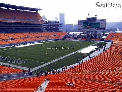 (4) Steelers vs Browns Tickets Lower Level Aisle Seats!!