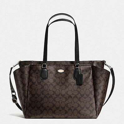 Coach Baby Diaper BAG F 35414  in Signature Change Pad Canvas Brown Black NWT