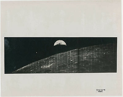 NASA. Lunar Orbiter. First View of Earth from near Moon, 1968. Vintage photo
