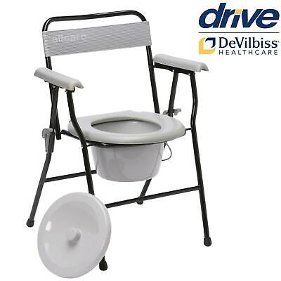 Lightweight Folding Commode Chair Removable Pan Portable
