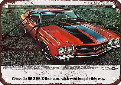 """7"""" x 10"""" Metal Sign - 1970 Chevrolet Chevelle SS 396 - Vintage Look Reproduction"""