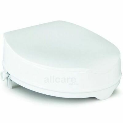 Savanah Raised Toilet Seat with Lid 2, 4 or 6 inch Elevated Mobility Aid
