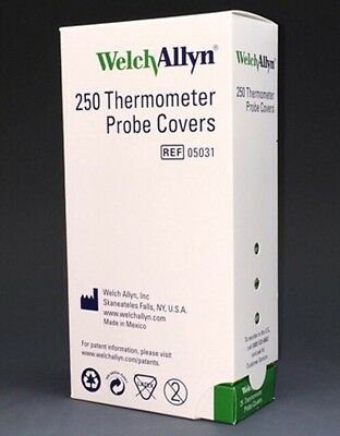 Welch Allyn SureTemp Thermometer Probe Covers 250/box - 10 Packs of 25 #05031