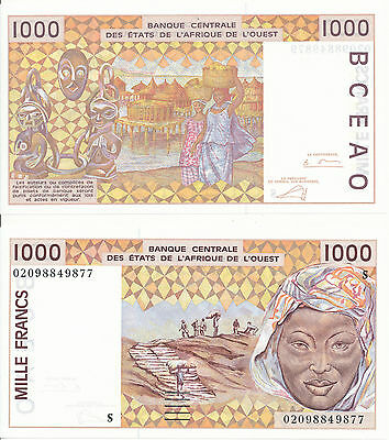 West African St. / S / Guinea-Bissau - 1000 Francs 2002 UNC - Pick 911Sf