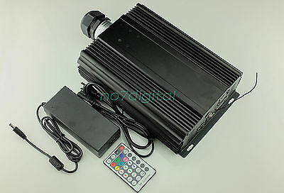 Professtional led fiber optic light source RGB DMX512+RF+platform control 90W