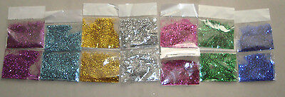 GLITTER 7 Colours in14 small sachets ,Craft,Card Making,Art