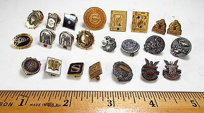 Vintage Lot of 23 Corporate and Government Employee Service Award Lapel Pins