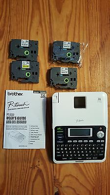 Brother P-Touch Label Maker - PT-2030 White - With Labels!  tested and working