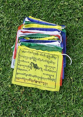 Tibetan Prayer Flags 25 Medium Size  Made In Nepal Free Postage