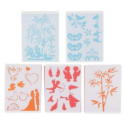 5 Pieces /Set Plastic Children Painting Toys Drawing Template Stencils Rulers