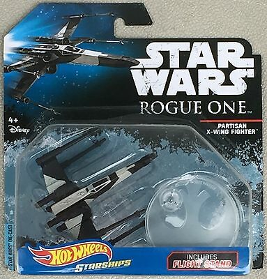 Partisan X-Wing Fighter Rogue One Starships Star Wars Hot Wheels Hw Diecast 2016