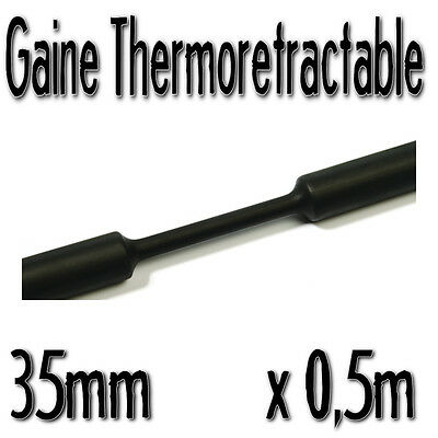 Gaine Thermo Rétractable 2:1 - Diam. 35 mm - Noir - 0,5m