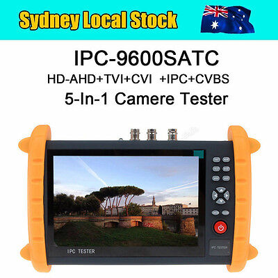 IPC9600SATC Touch Screen Display Onvif IP HD-AHD/TVI/CVI Analog CCTV Cam Tester