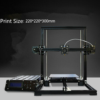 Tronxy Aluminium 3D Printer DIY KIT X3 MK8 Extruder LCD 2004A 220*220*300mm B2