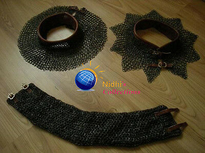 Medieval Armour Chainmail Coller 06Mm Round Riveted With Flat Washer