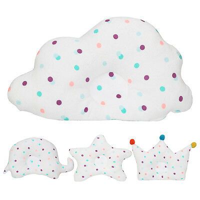 Cotton Newborn Nursery Pillow Neck Support Cushion Anti-Flat Sleep Positioner UK