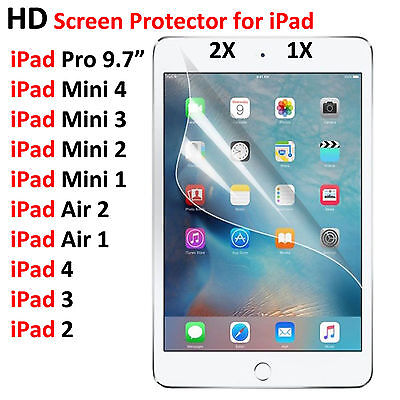HD Screen Protector Film Guard For iPad 4 3 2 Mini 4 3 2 1 Air 2 1 Pro 9.7""
