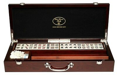 Dal Rossi Mahjong Deluxe Wooden Case with Sticks and Racks