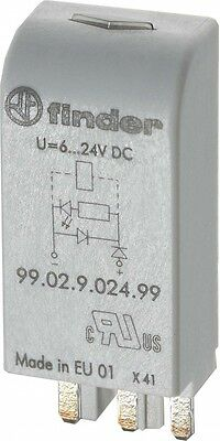 Finder LED gn + Diode 6.. 24VDC f.Fas. 95.03/05 99.02.9.024.99