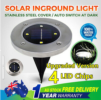 6X/12x/18X/24X Solar Powered LED Buried Inground Recessed Light Garden Deck Path