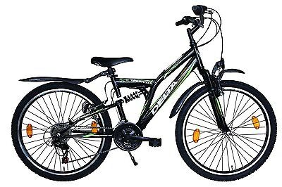 kinderfahrrad fahrrad mountainbike 24 zoll shimano 18gang schwarz gr n mtb stvo eur 169 00. Black Bedroom Furniture Sets. Home Design Ideas