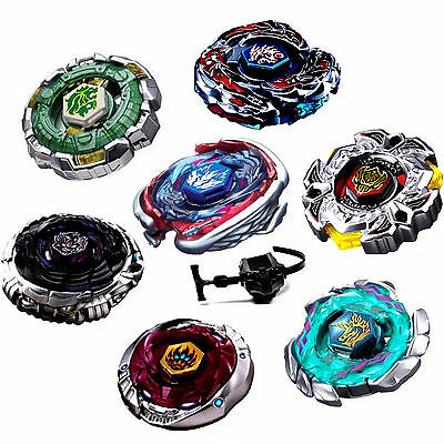 Kids 4D Fusion Top Metal Master Rapidity Fight Rare Beyblade Launcher Grip Set