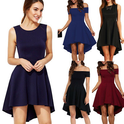 UK Womens Dress Party evening skater dresses Long Cocktail Prom Bridesmaid Gown