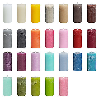 25 Hour Rustic Pillar Candle 100x50mm - Buy 4 Get 4 FREE (add 8 to basket)